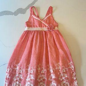 Girls tank dress Isobella & Chloe peachy pink 8